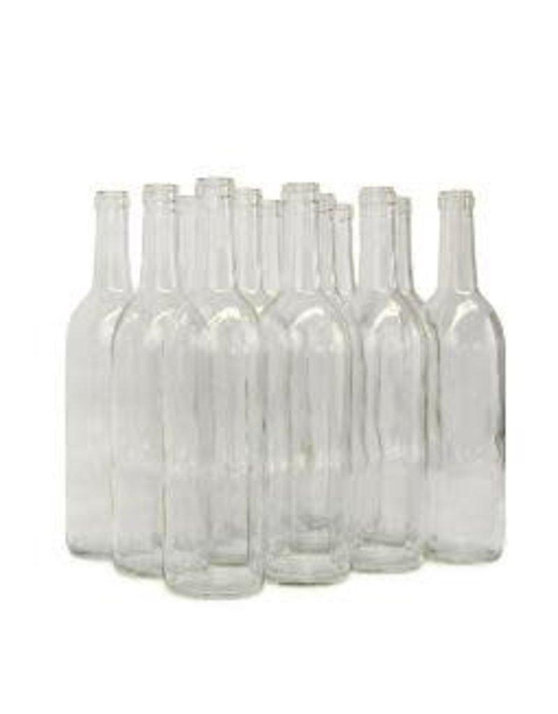BSG HANDCRAFT 750 ml BORDEAUX STYLE BOTTLE CLEAR