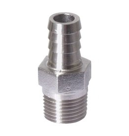 "BREWMASTER 1/2"" BARB X 1/2"" MPT HOSE FITTING"