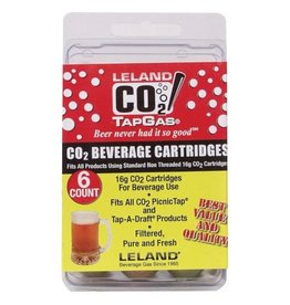 BREWMASTER CO2 CARTRIDGES-16g UNTHREADED (6)