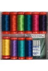 Aurifil Thread Set Little Butterflies - 10 Spools & Schmetz Needles