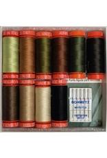 Aurifil Thread Set Sweet Hearts - 10 Spools & Schmetz Needles
