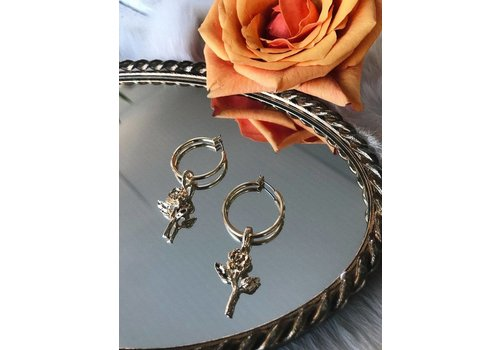 vanessa mooney Little Rose Hoops