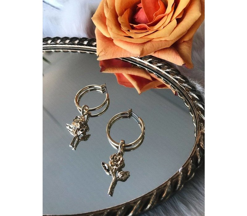 Little Rose Hoops