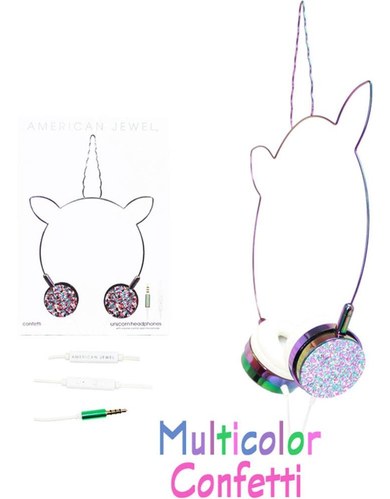 Unicorn Headphones - Confetti