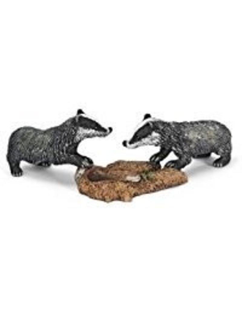 Schleich Badger cubs