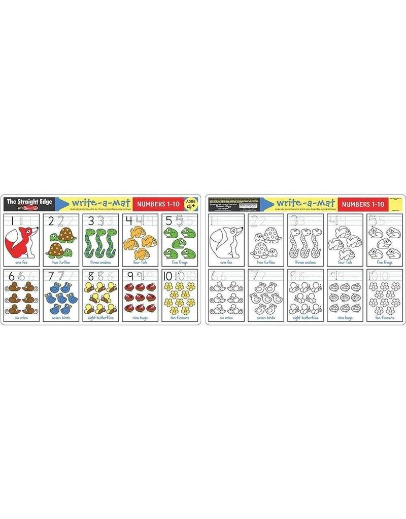 Melissa and Doug Numbers 1-10 Write-a-Mat