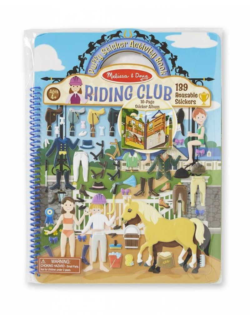 Melissa and Doug Puffy Stickers Deluxe Riding Club