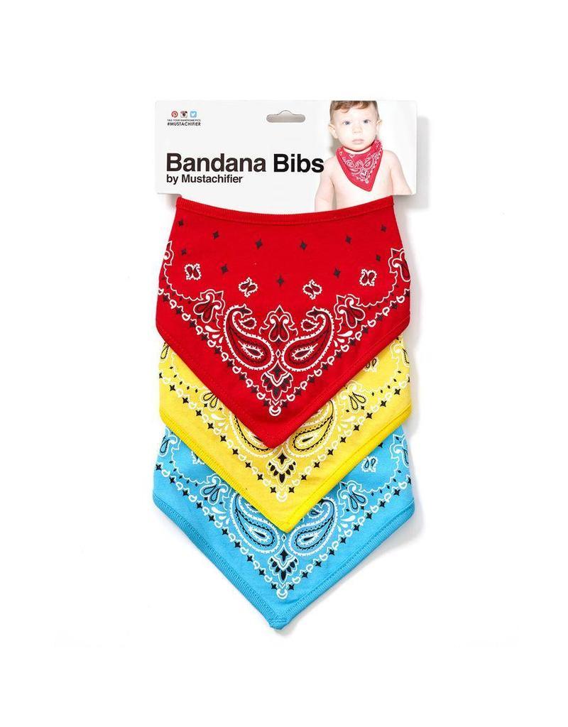 Bandana Bibs - Red/Yellow/Blue