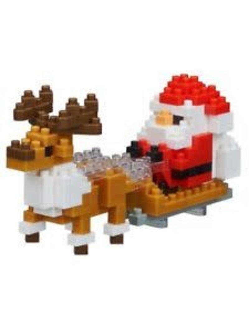 Santa Claus w/Reindeer Nano Block