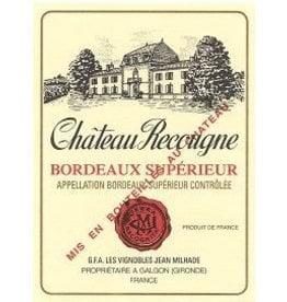 Bordeaux Red Chateau Recougne Bordeaux Superieur 2015 375ml