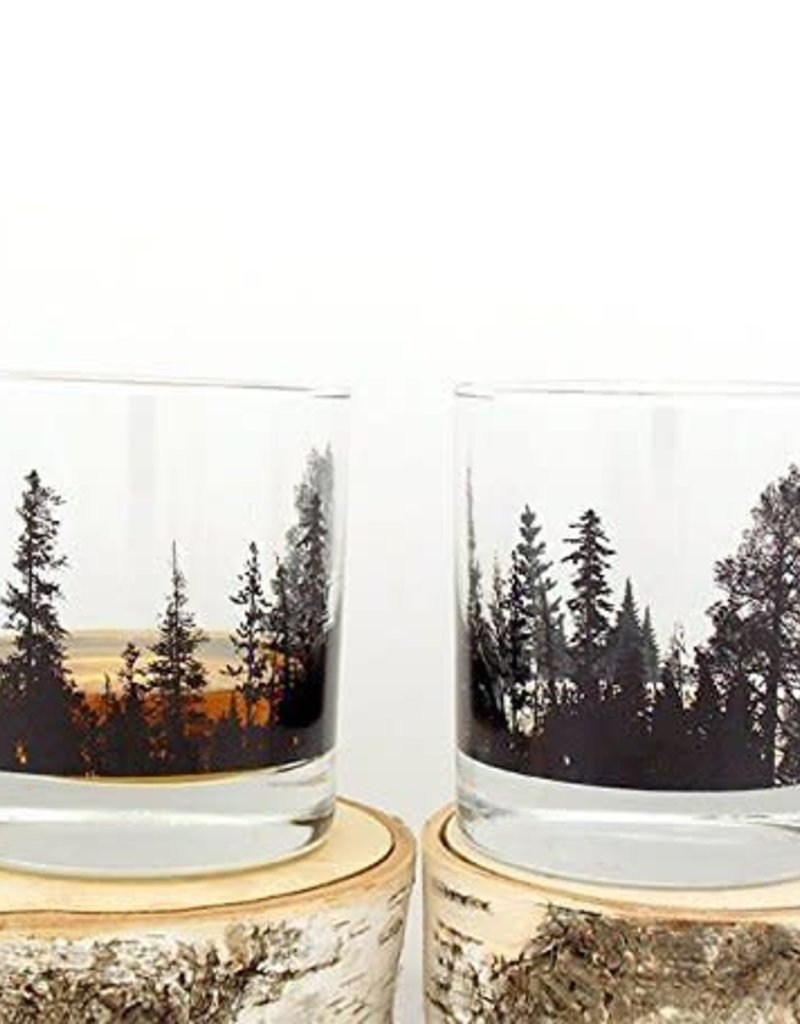 Forest Landscape Whiskey Glass
