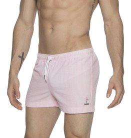 "Park & Ronen Parke & Ronen 3"" Flamingo Pink Swim Short"