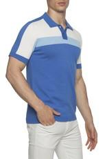 parke & ronen Parke & Ronen Blue White Knit Polo