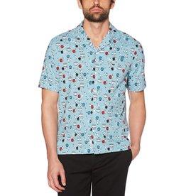 Penguin Penguin Bowling Print Short Sleeve Shirt
