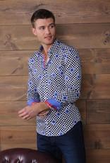 Eight X Eight X Navy Circles Long Sleeve Shirt