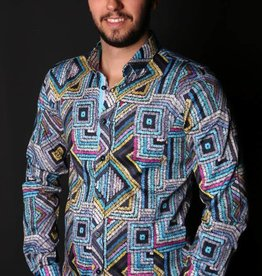 Eight X Eight X Multi Blue Long Sleeve Shirt