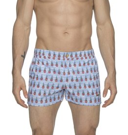 "parke & ronen Parke & Ronen Pineapple White 2""  Swim Trunk"