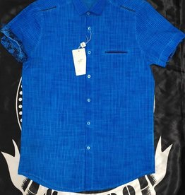 Mondo Mondo Blue Stripe Short Sleeve Shirt