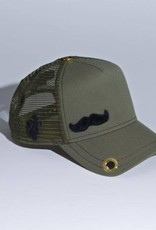 """Red Monkey Red Monkey Olive """"The Stache"""" Cap"""