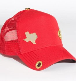 Red Monkey Red Monkey Red Lone Star LTD Cap