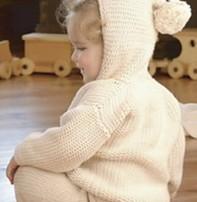 Appalachian Appalachian Baby Designs - Pom Pom Hooded Cardigan Kit