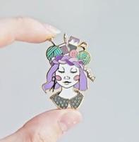 Twill & Print Twill & Print Enamel Pin - Craft Queen