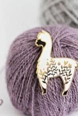 Twill & Print Twil and Print Enamel Pin - Little Alpaca