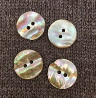 """Buttons, Etc. *Buttons - Natural Abalone, 7/8"""", 2.25cm"""
