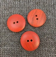 "Buttons, Etc. *Buttons - Wood, Spice, 1"", 2.5cm"