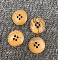 "Buttons, Etc. *Buttons - Wood, Natural Burl,  3/4"", 2cm"