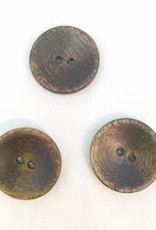"""Buttons, Etc. *Buttons - Wood, round, Brown, 1"""". 2.25cm"""