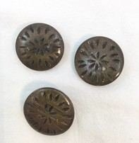 """Buttons Etc *Buttons - Wood, Round, Graywood, Filagree, 1"""", 2.5cm"""