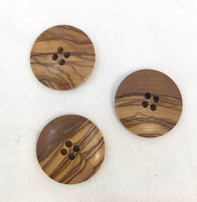 "Buttons, Etc. *Buttons - Wood, Round, 1"", 3cm"