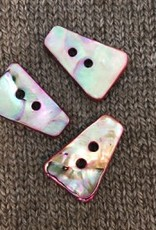"""Buttons Etc *Buttons - MOP, dyed Pink, 1'1/4"""" long, 3cm"""