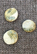 """Hello Beautiful *Buttons - Pottery Button w/Shank, 3/4"""", 1.75cm"""