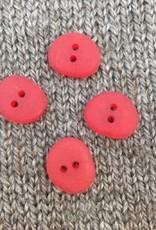 "Buttons Etc *Buttons - Corozo, Oval Red Gumdrop, 5/8"", 1.5cm"