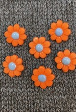 "Buttons, Etc. *Buttons - Polyamide, Orange Daisy, 5/8"", 1.5cm"