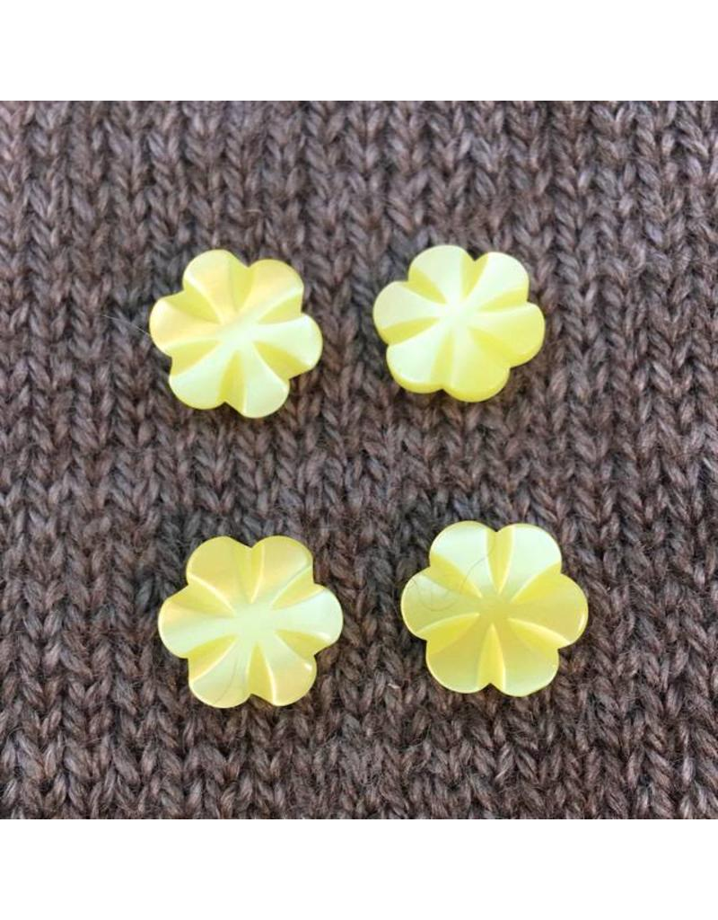 "Buttons, Etc. *Buttons - Polyamide Little Yellow Flower, 1/2"", 1.25cm"