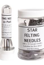 Harmonique Felting Needles - Pack Of 10 Size 38 Star
