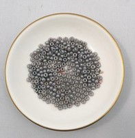 John Bead Miyuki Seed Beads - 6/0 Silver Grey