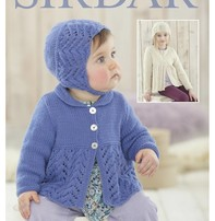 Sirdar Sirdar Design - Pretty Jacket And Matching Hat For Babies Or Girls