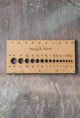 Twig & Horn Small Gauge Ruler