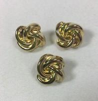 "Dill Buttons *Buttons - Full Metal Gold, 5/8"", 1.2cm"