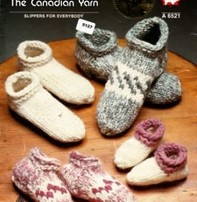 Art of Yarn Vintage Pattern * - Cowichan Style Slippers (PDF)
