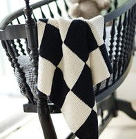 Churchmouse Churchmouse - Garter Blocks Baby Blanket