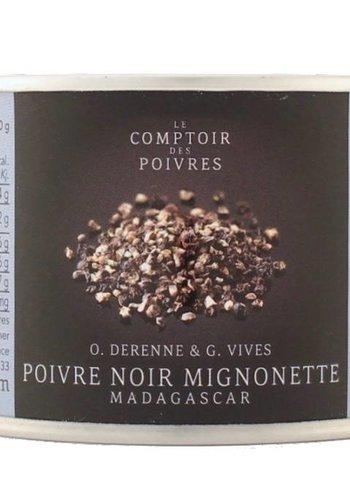 Poivre noir mignonette Madagascar Le Comptoir des Poivres - 80g