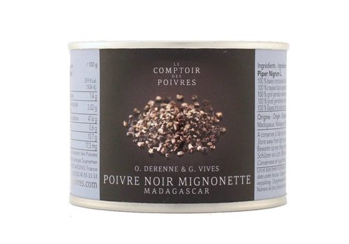 "Cracked black pepper so-called ""Mignonette"" - Madagascar 80g"