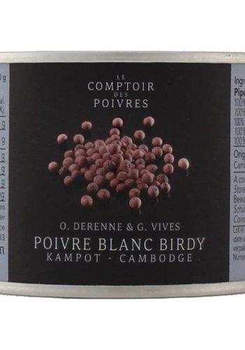 """Poivre blanc """"Birdy entier"""" du Cambodge Le Comptoir des Poivres - 80g"""
