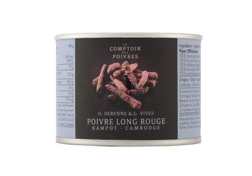 Poivre long rouge Kampot - Cambodge 50g
