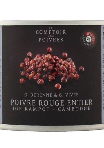Red Kampot PGI peppercorns - Cambodia 80g